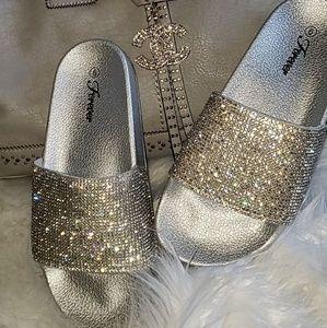 Rhinestone Fashion Slides